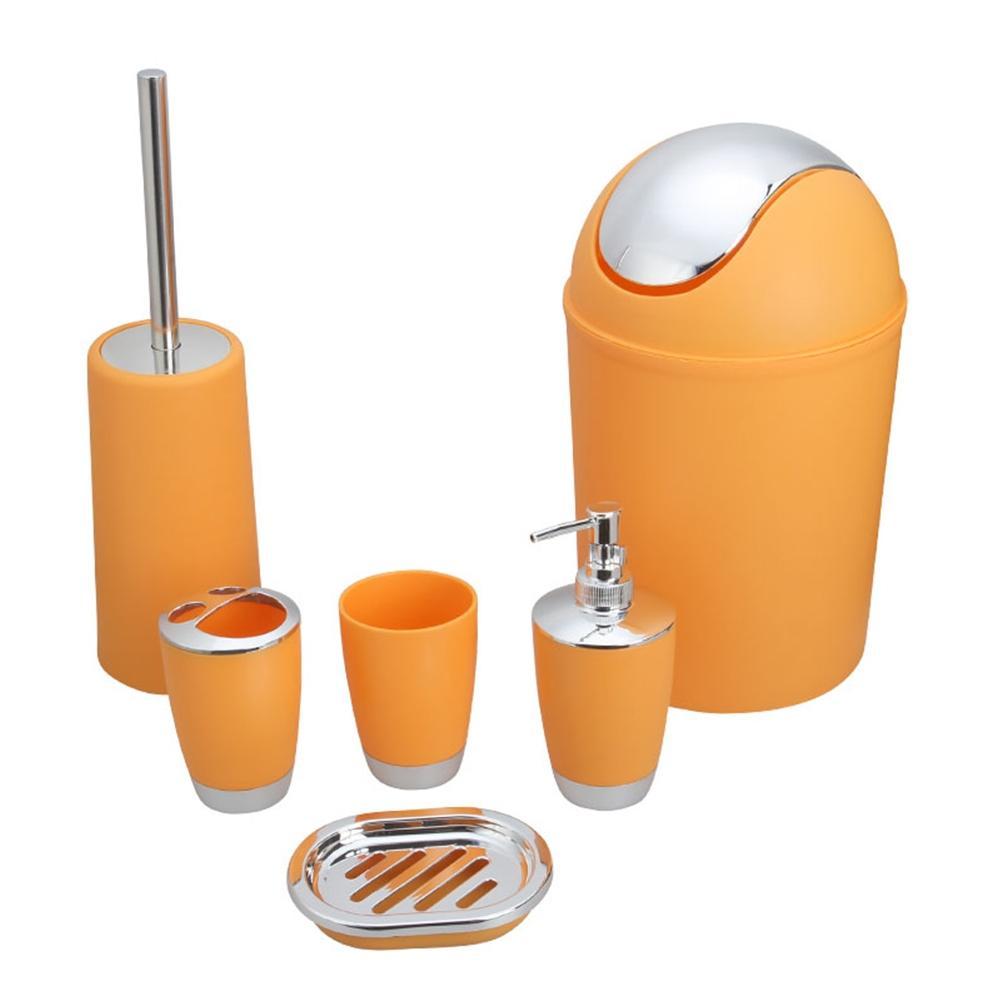 ชุดอุปกรณ์ห้องน้ำซักผ้าเครื่องมือขวดน้ำยาบ้วนปากสบู่ผู้ถือแปรงสีฟันถังขยะห้องน้ำแปรงบ...