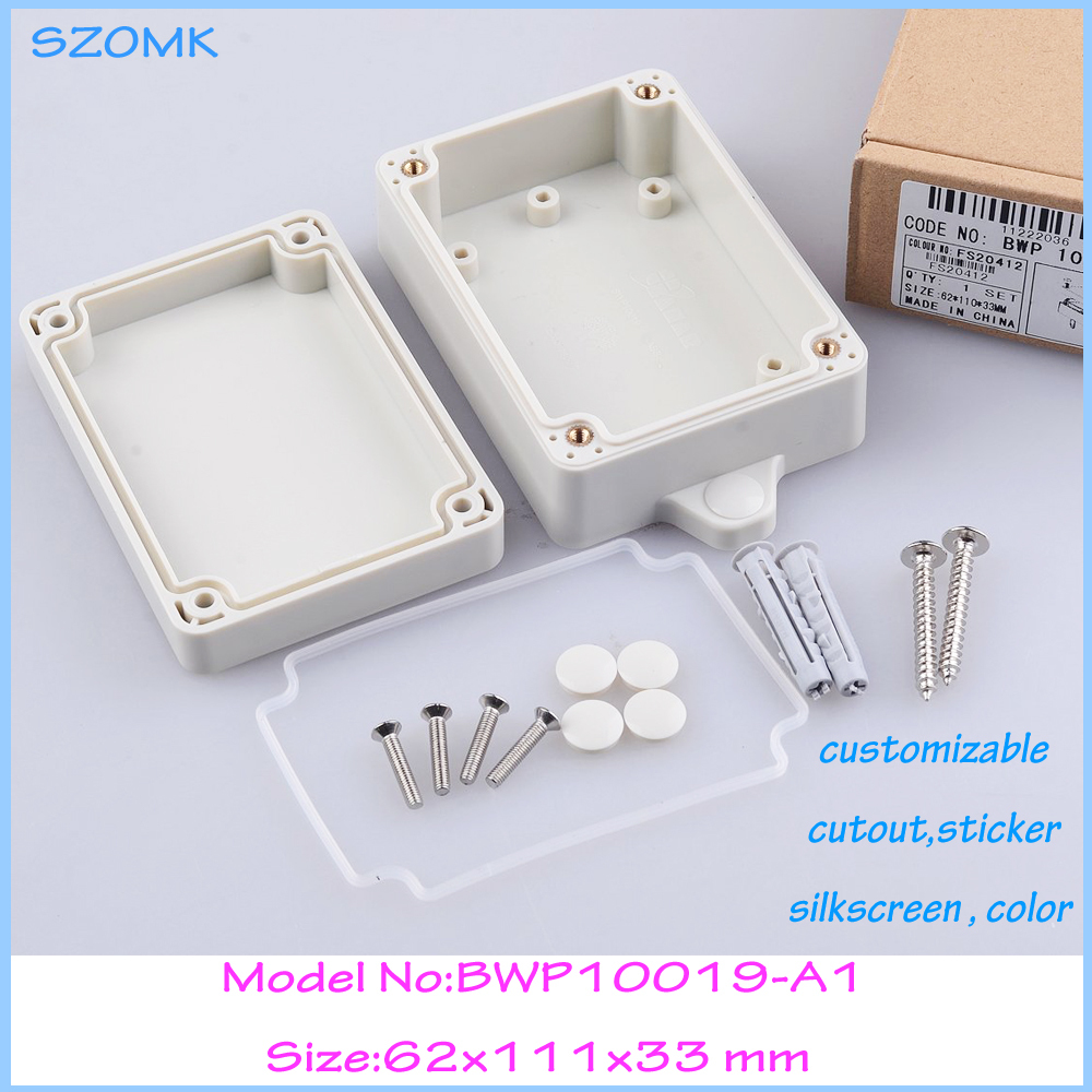 Wall mount plastic enclosure junction box belt ears waterproof ip68 111x62x33 mm - Eletronic Connector & Enclosure World store