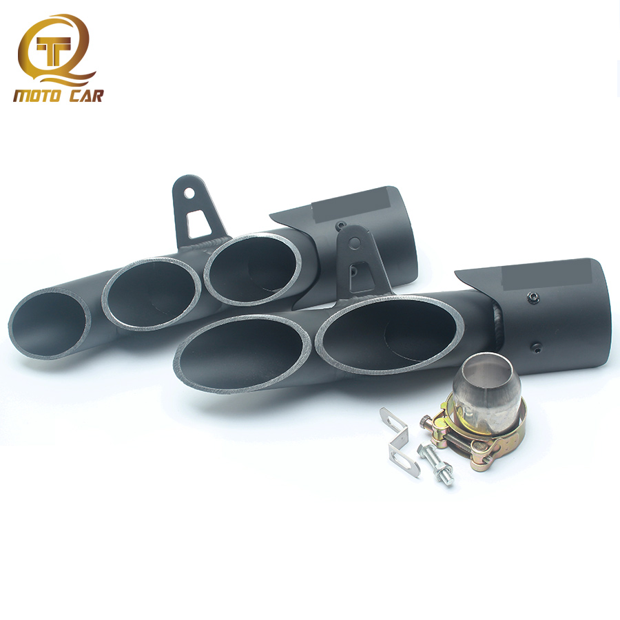 Refit Exhaust Motorcycle Universal Muffler Escape 2 Hole/3 Hole for