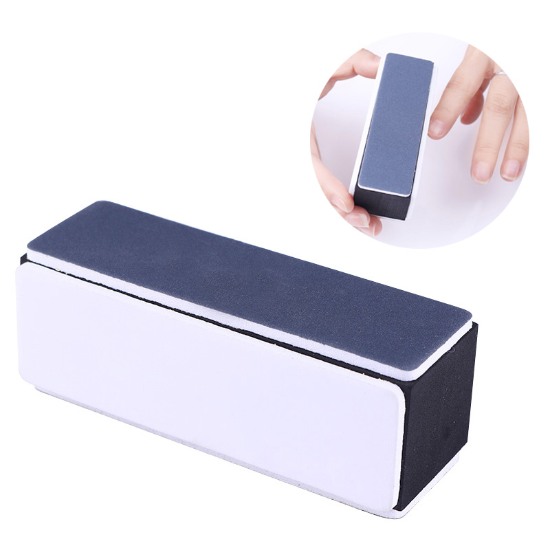 4-sides Nail Buffer Sanding Block Shaping Smooth Polishing File Black White Manicure Nail Art Tool