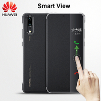 Original Huawei P20 Pro Case Official Smart Wake up Sleep PU Leather Window Flip Cover Case For Huawei P20 P 20