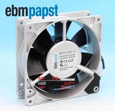 ebm papst  New W2S115-AA51-34 12738 230V 27W all-metal cooling fan  127*127*38mm new original ebm papst iq3608 01040a02 iq3608 01040 a02 ac 220v 240v 0 07a 7w 4w 172x172mm motor fan