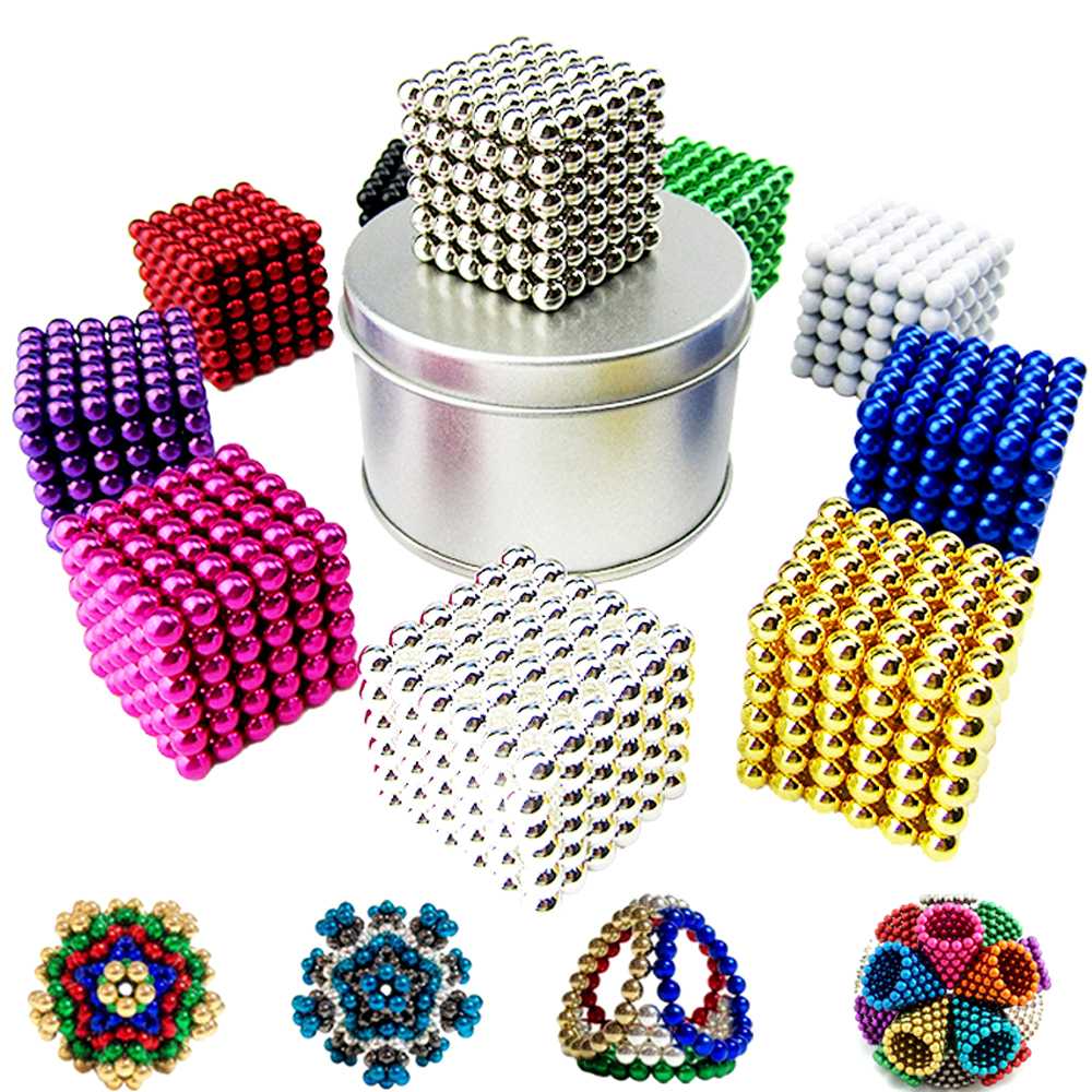 5mm 216pcs Magic Puzzle Balls Anti Stress Magnetic Neo Cube Fidget Cube Educational Toys for Children New Year Christmas Gift