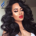 180%-300 % High Density Full Lace Wig Human Hair Wavy Lace Front Wig With Baby Hair Black Woman Lacefront Brazilian Wig 2016 New