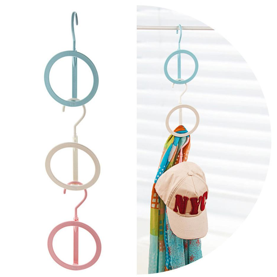 Storage Clothes Hanger Clamps Hook Creative Nail-Free Coat Rack Eco-Friendly Plastic Clothes Hanging Storage Rack #50820