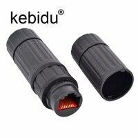 Nuevo impermeable M16 IP68 Ethernet Cable de red LAN RJ45 conector hembra a hembra enchufe del adaptador de conector a prueba de agua