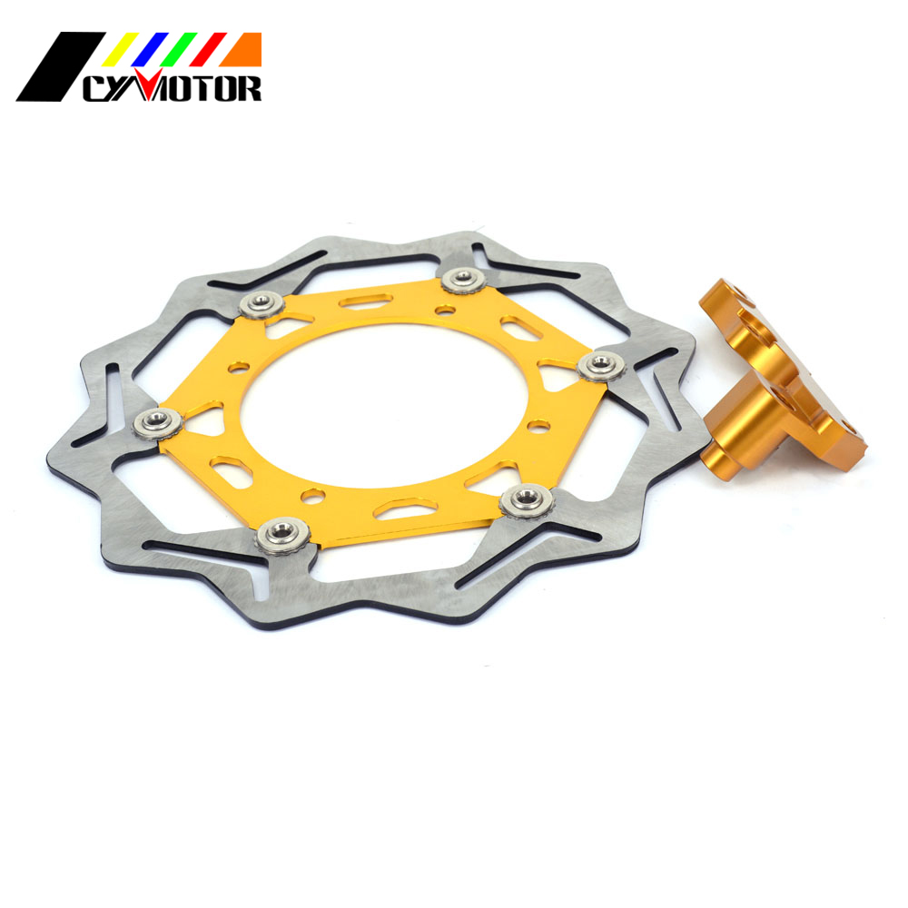 270MM Floating Brake Discs Rotor and Bracket For SUZUKI RMZ250 RMZ450 RMX450 RMZ 250 450 05