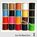 NORTH FISH HQ 1mm Thai Waxed Polyester Cord Wax Beading String Thread for Macrame Jewelry 80M