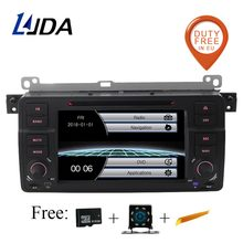 LJDA 1 DIN 7 дюймов автомобиля DVD плеер для BMW E46 3 серии 318 320 325 M3 Rover 75 MG ZT Bluetooth 1080 P gps Навигация Радио Аудио