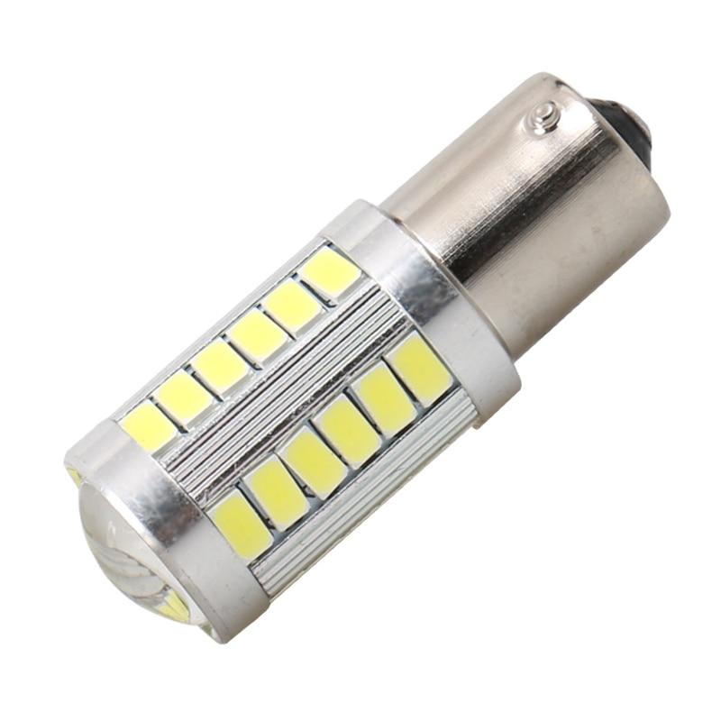 2PCS 1156 BA15s P21W 33 SMD 5630 5730 Led Car Turn Signal Brake Lights DRL Driving Lamp 33SMD Auto Rear Reverse Bulbs Orange Red