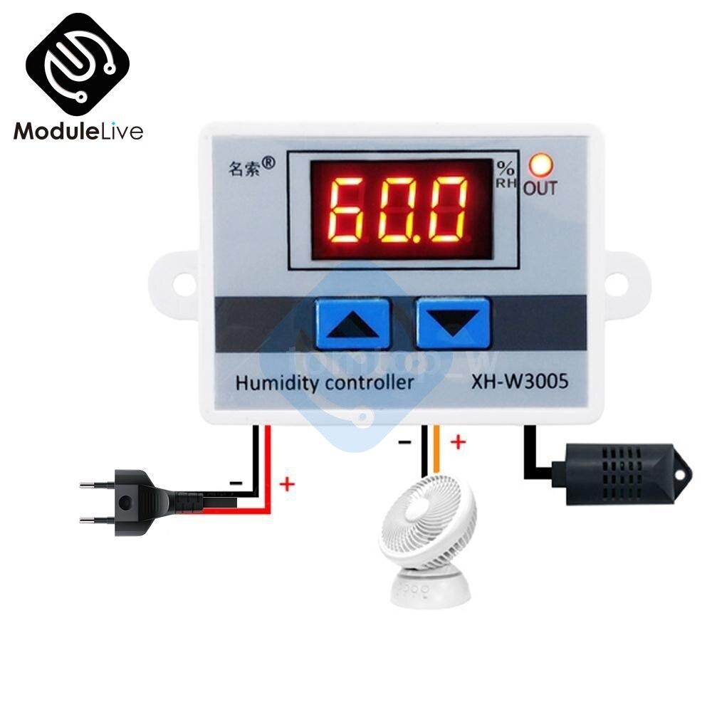 Werkzeuge Feuchtigkeit Meter 10a 220 V Mini Digital Thermostat Hygromstat Luft Temperatur Controller Messbereich 1%-99% Mit Sensor