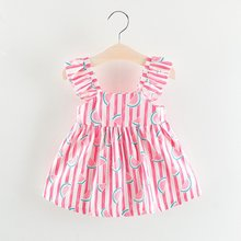 2381018af9cab3 Kids Dresses for Girls Summer Style Princess Backless Dress Kids Watermelon  Clothes Casual Sleeveless Dress Girl