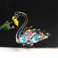 Sparkle Crystal Swan Figurine Collection Paperweight Table Centerpiece Ornament