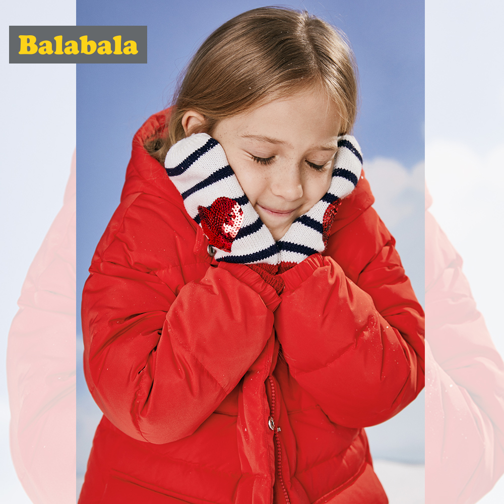 Balabala Children Clothing Hooded Down Jacket Thick girls Jackets for Winter duck down Kids Snowsuit Girl Winter Coat 6-11T balabala children girls down jacket winter girl warm down jacket hooded thin fashion soft comfortable kids coat clothing 4 color