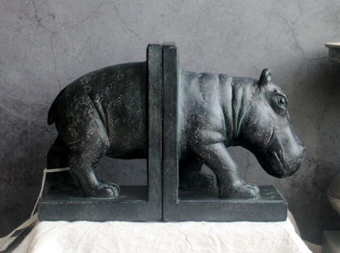 Vintage américain français faire vieux hippopotame animaux ornements pour livre fichier ailes et rêve d'un cochon maison style vintage
