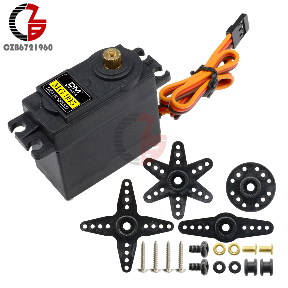 MG995 MG 995 55g Servo Digital Metal Servo Stable Shockproof DC Coreless <font><b>Motor</b></font> for HPI XL Helicopter <font><b>Gear</b></font> <font><b>RC</b></font> Car Robot image
