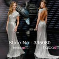 2015 Wholesale Oscar Star Whiteley Silver Tank Sleeveless Transformers Dark of the Moon Premiere Celebrity Dress