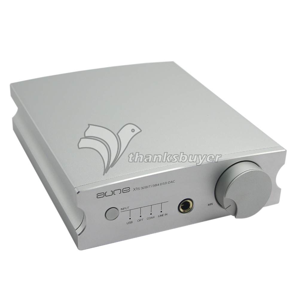 Aune X1S 32BIT / 384 DSD128 ESS9018K2M USB Interface Audio Amp Decoding Amplifier-Silver/Black Free DHL/TNT/EMS