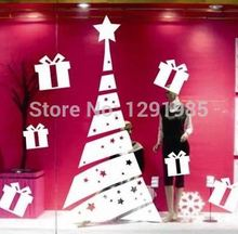 Christmas Xmas Tree Star Festival Gift decorations ornaments window Wall decals stickers fashion Poster
