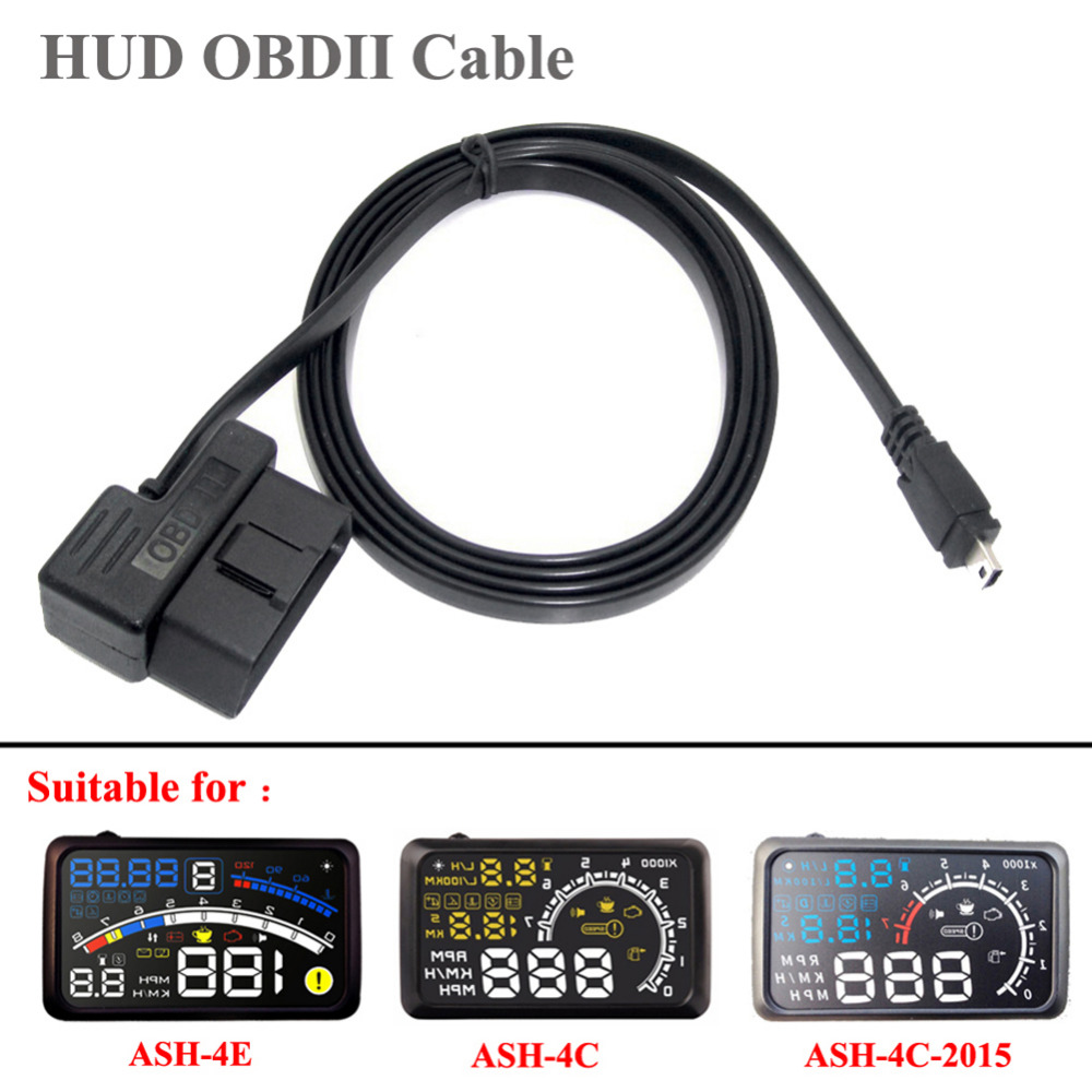 hight resolution of 1 95m obd ii 2 cable diagnostic adapter 16 pin obd2 to mini usb cable for