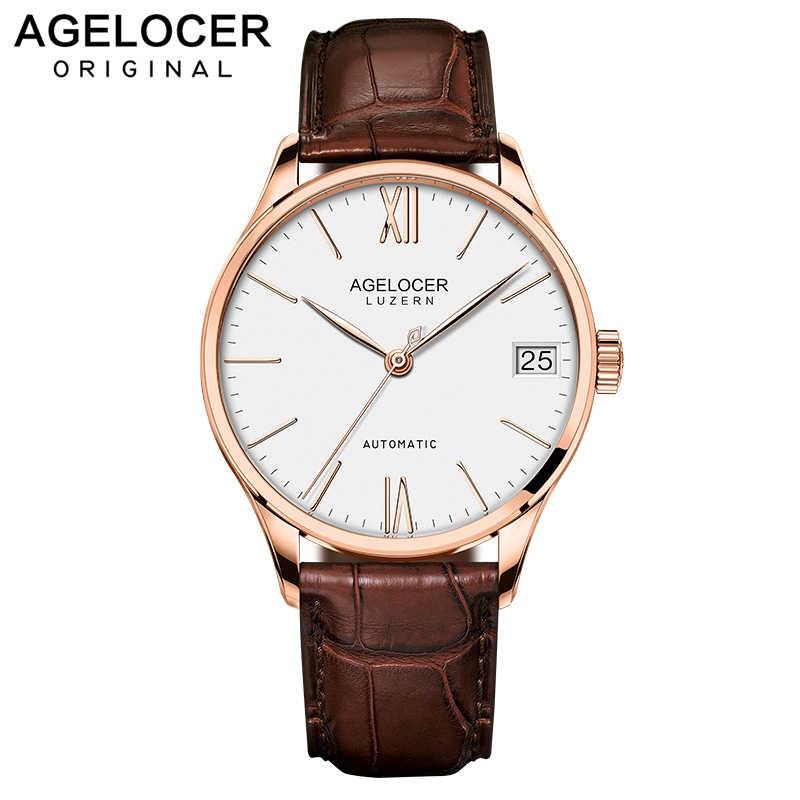 Швейцарские мужские часы автоматические механические часы запас мощности 80 часов часы militar часы Лидирующий бренд AGELOCER спортивные мужские часы