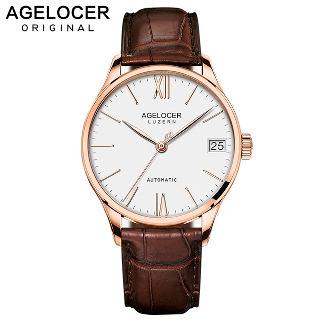 Swiss Men's watches automatic mechanical watch power reserve 80 hours clock militar watch top brand AGELOCER sports watch men