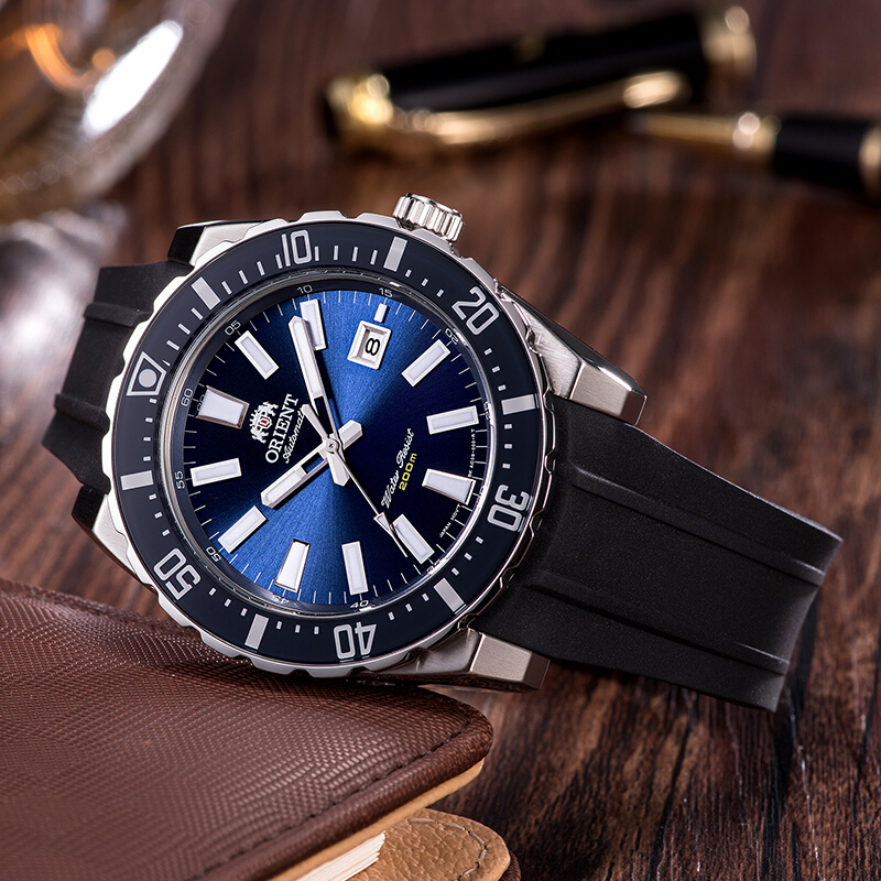 100% ORIENT Diving Watch Mako Series Men's Sports Watch 20 Bar Water Resistance Luminous Hands Chapter English Calendar Warranty-in Sports Watches from Watches on Aliexpress.com | Alibaba Group