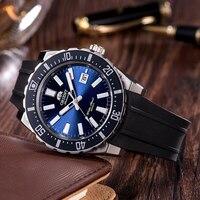 100% ORIENT Diving Watch Mako Series Men's Sports Watch 20 Bar Water Resistance Luminous Hands Chapter English Calendar Warranty