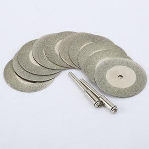 Image 5 - 10 Stuks 35Mm Dremel Accessoires Steen Jade Glas Diamant Dremel Snijden Disc Fit Rotary Tool Dremel Boren Tool Met twee Doorn