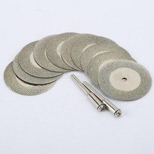 Image 5 - Accesorios dremel de piedra de cristal de Jade, 10 Uds., disco de corte dremel, herramienta rotativa, taladros Dremel, herramienta con dos mandriles