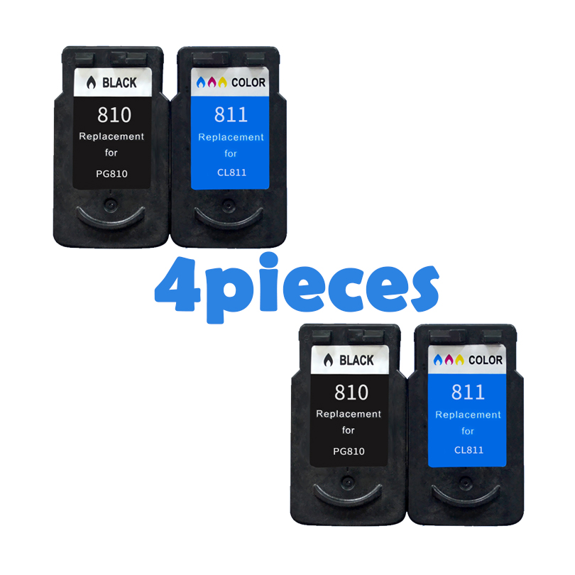4pcs PG810 CL811 Ink Cartridges for Canon PG 810 CL 811 iP2770 iP2772 MX328 MX338 MX347