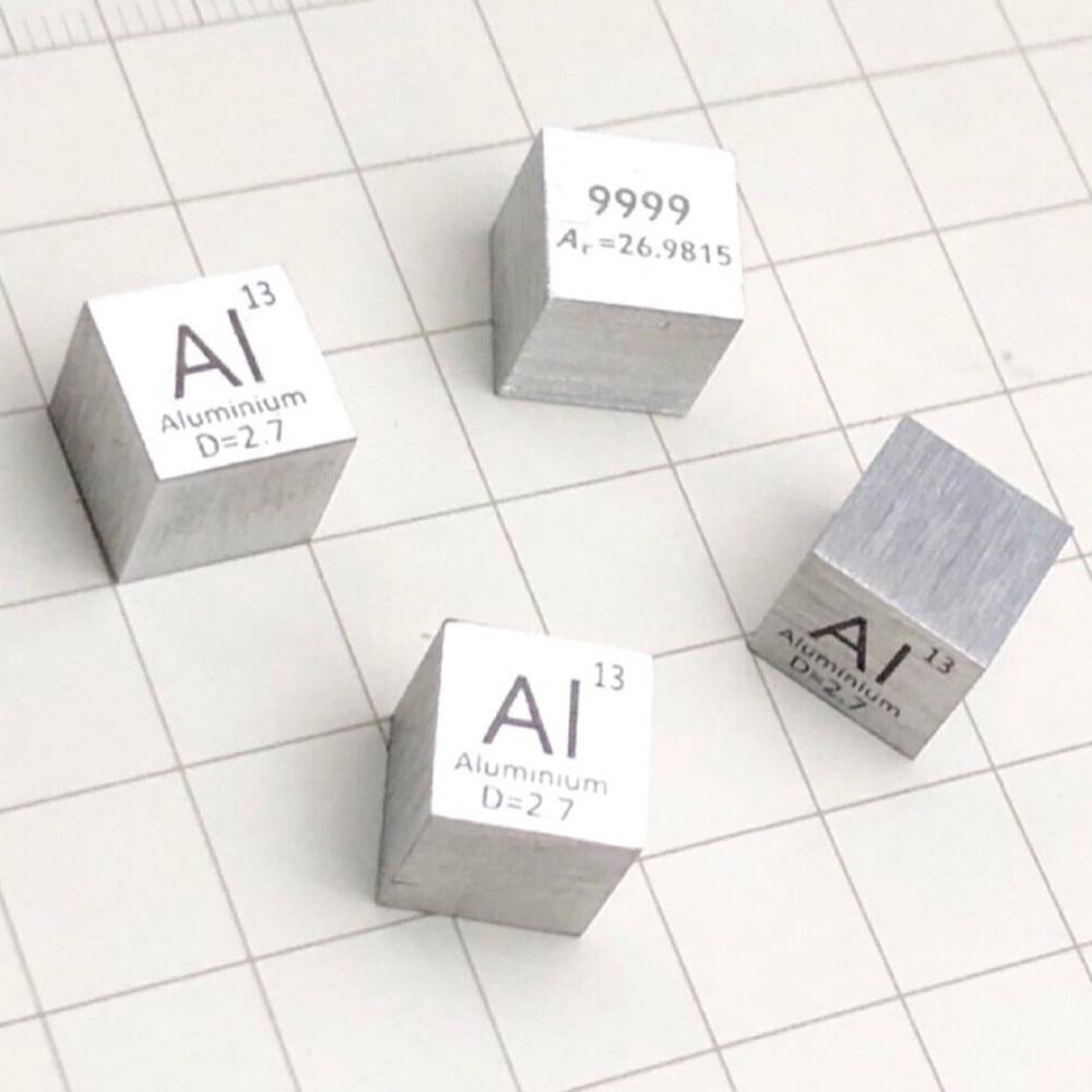 Купить с кэшбэком Pure 99.99% AI Aluminium Cube Block Bulk Periodic Table of Rare Earth Metal Elements for Research lab industrial Collection