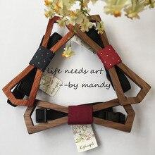 Жизнь Ретро стиль из полой древесины галстук Мужской деревянный галстук-бабочка Галстуки Галстук бабочка 3 шт./партия хорошее качество
