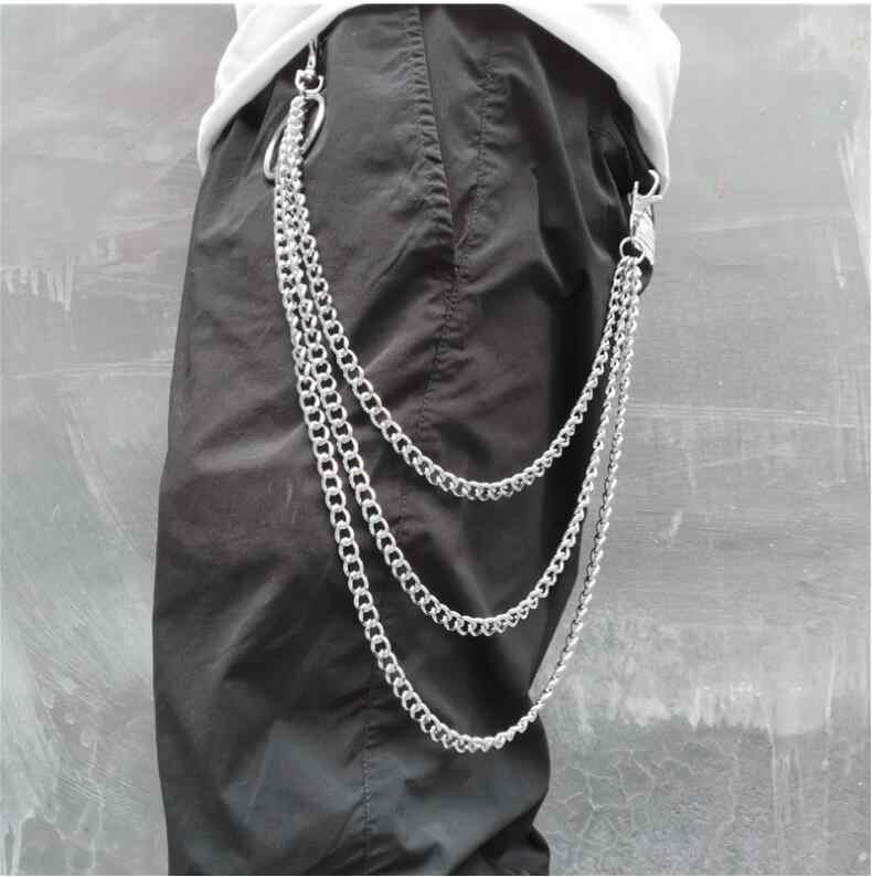 1 PC ยาวกางเกง Hipster Key Street Punk แหวนพวงกุญแจโลหะกระเป๋าสตางค์เข็มขัดโซ่กางเกงพวงกุญแจ Unisex เครื่องประดับ HipHop
