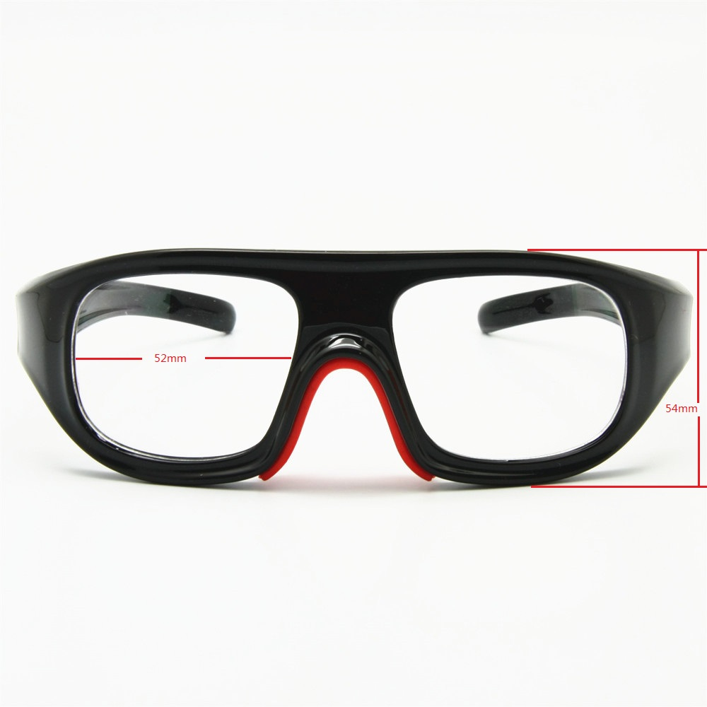 4ad7a79656a4 2 in 1 Basketball Glasses Optical Frame Detachable Legs   Strap Protective  Sports Goggles with Clear Lens-in Cycling Eyewear from Sports    Entertainment on ...