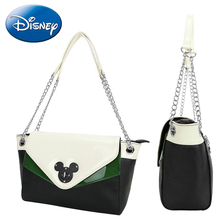 Disney 2019 New Women Hand-bags Mickey Minnie Bag Fashion Classic Leisure Single Crossbody Shoulder-Satchel Bag Metal Hand-Bag local focal handmade classic striped hand bag