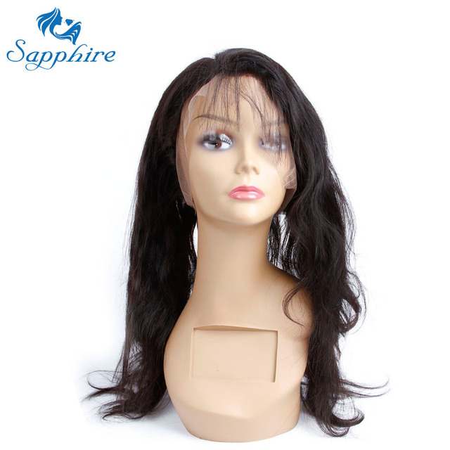 Sapphire Body Wave Remy Human Hair 360 Lace Frontal Closure With