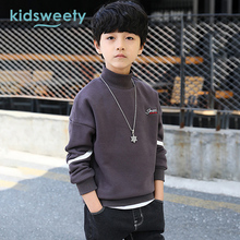 Kidsweety Teenagers Kids Clothes Boys Printed Letter Sport Sweater Warm Full Sleeve Pullover Children School Student Clothing