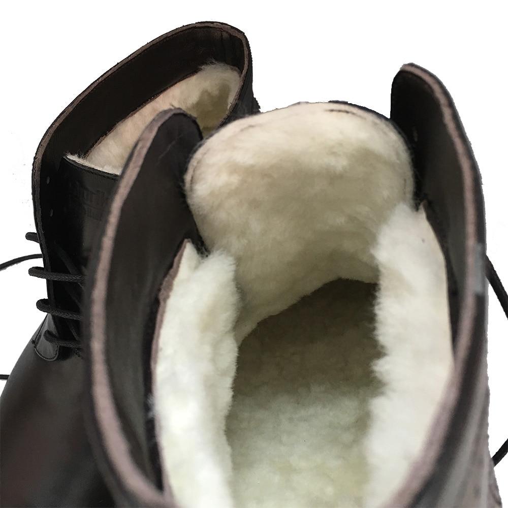 Wool Sipriks Negro De A Cuero Beige 45 Tobillo Negro Medida not Importados Botas Grueso Lana Hombre Hombres Goodyear Para Have Cálido Nieve Natural Invierno rApgxrRf