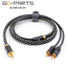 GD-PARTS MPS X-9 6N Silver OCCS OCC Cable Male 3.5mm Earphone Plug to 2RCA Plugs For Hifi Audio Home Theater TV Mobile Computer