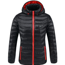 New Motorcycle Jacket Women Winter Thermal Warm Hooded Heating Clothing USB Constant Temperature Waterproof Hiking Coat