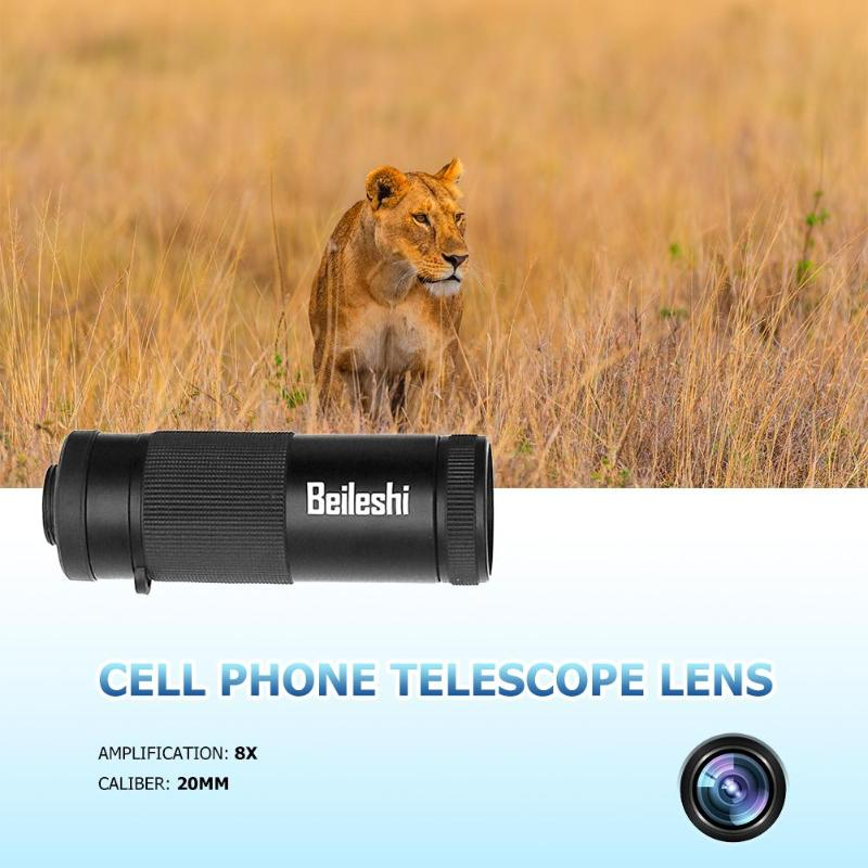 Lens Telescope Monocular Hunting Phone-Camera-Lens Smartphone Camping-Tool Multifunction