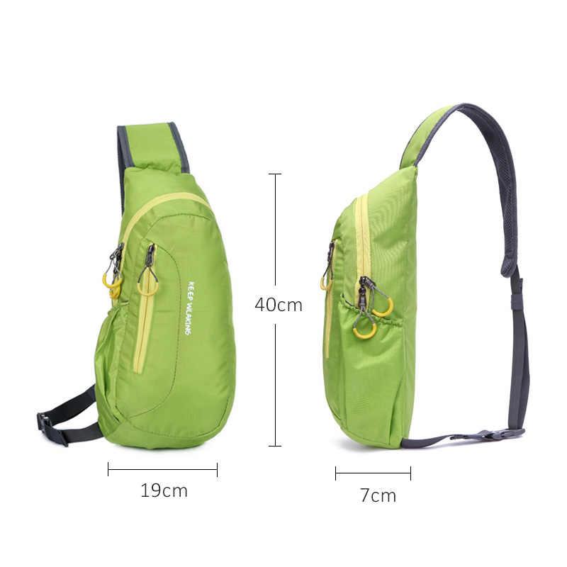¡Oferta! bolso de Nylon impermeable Unisex para correr, bolso de hombro para hombres y mujeres, bolso Diagonal para gimnasio al aire libre