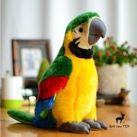 Cute Parrot Doll Plush Toys Simulation Wildlife Children'S Toy Gifts Super Kawaii Green Macaw Dolls