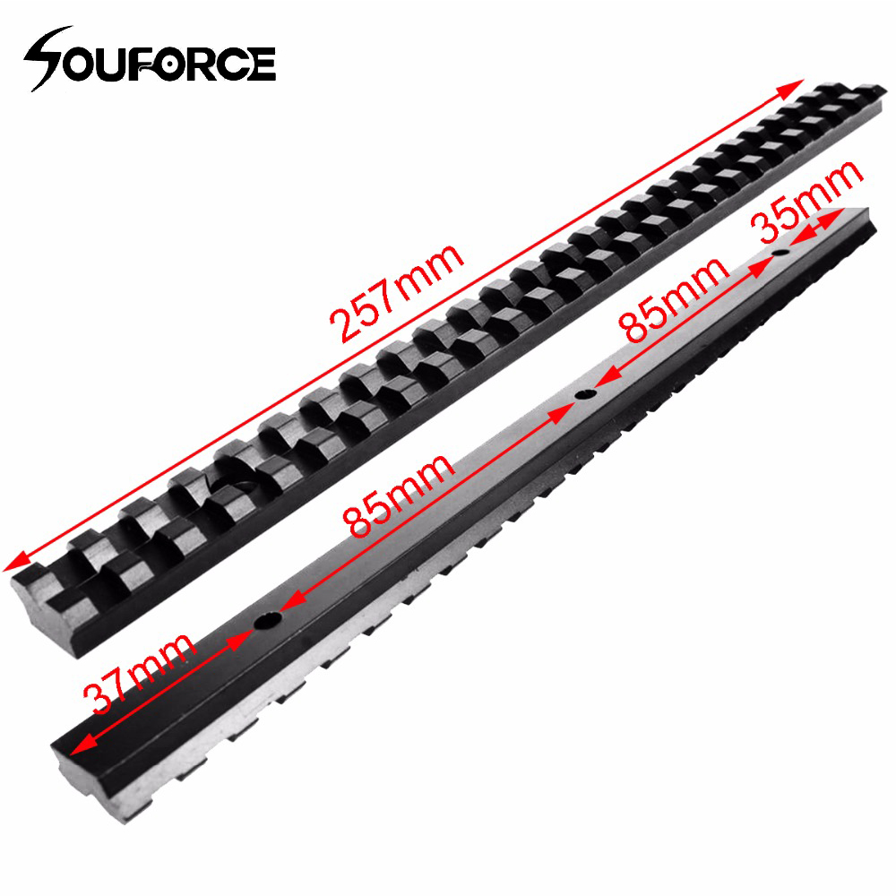 Long 20mm Mount Picatinny Rail with 25 Slots and 257mm Length of Aluminum Alloy for Hunting Rifles B-in Scope Mounts & Accessories from Sports & Entertainment