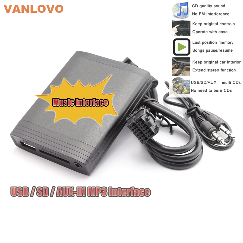 YATOUR Digital Music Changer AUX SD USB MP3 Adapter for FORD Focus Fiesta Mondeo Escort Galaxy KA Transit yatour car adapter aux mp3 sd usb music cd changer 8pin cdc connector for renault avantime clio kangoo master radios