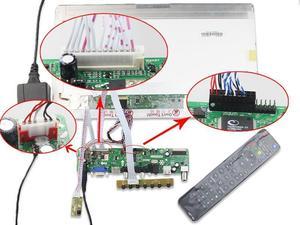 "Image 4 - for 15.6"" LTN156AT02 VGA LED USB AUDIO TV HDMI driver Controller Board display 1366*768 AV LCD panel monitor"