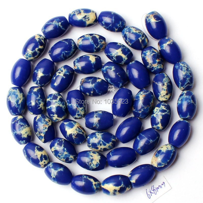 Free Shipping AAA 6x8mm Deep Blue Lace Agates Onyx Oval Shape Loose Beads Strand 15 Jewellery Making w1505