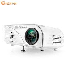 Gigxon-G8005B regalos de Navidad 800*480 1080 p soporte proyector casero, mini proyector de la tv, hd proyector 1200 lúmenes