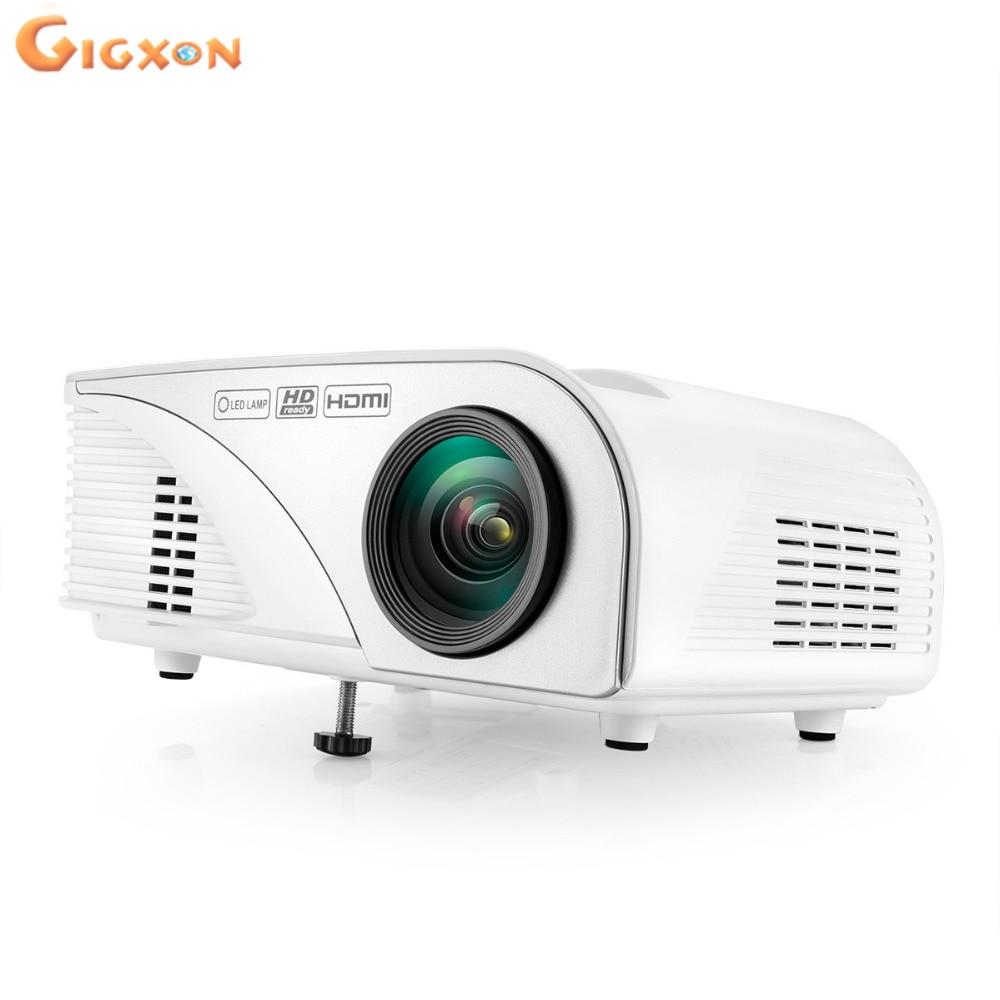 Gigxon-G8005B regalos de Navidad 800*480 1080 p soporte proyector casero, mini p